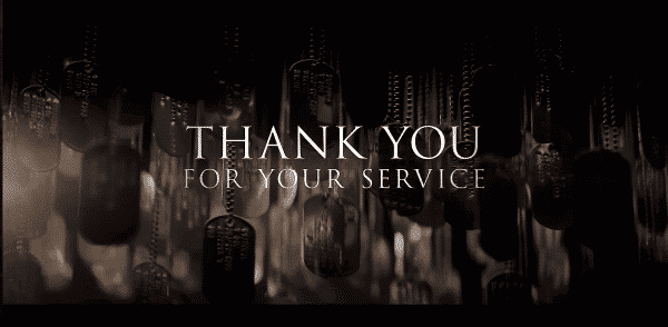 Thank You For Your Service - Title Card