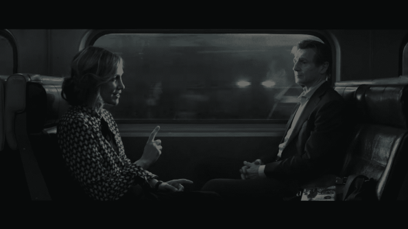 The Commuter - Vera Farmiga as Joanna and Liam Neeson as Michael