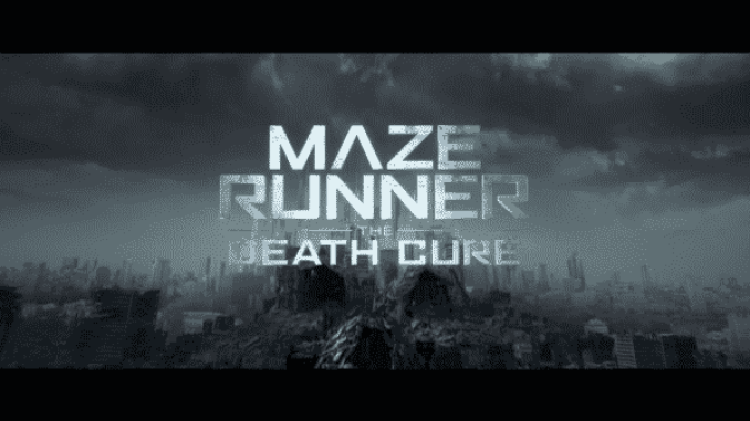 The title card for The Maze Runner: The Death Cure
