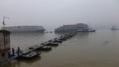 Yangtze River. Finally, a dam in sight.