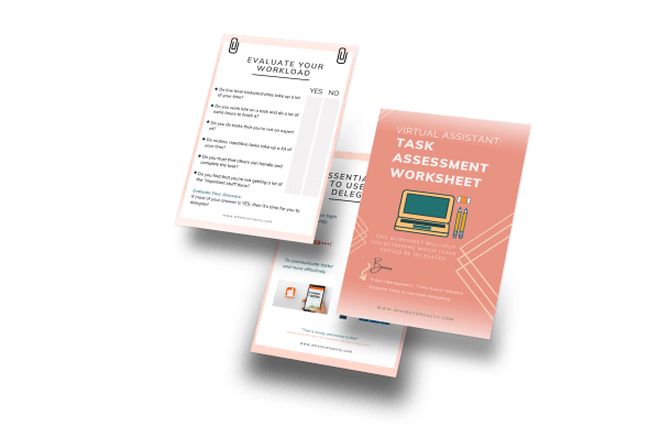 Virtual Assistant - Task Assessment Worksheet