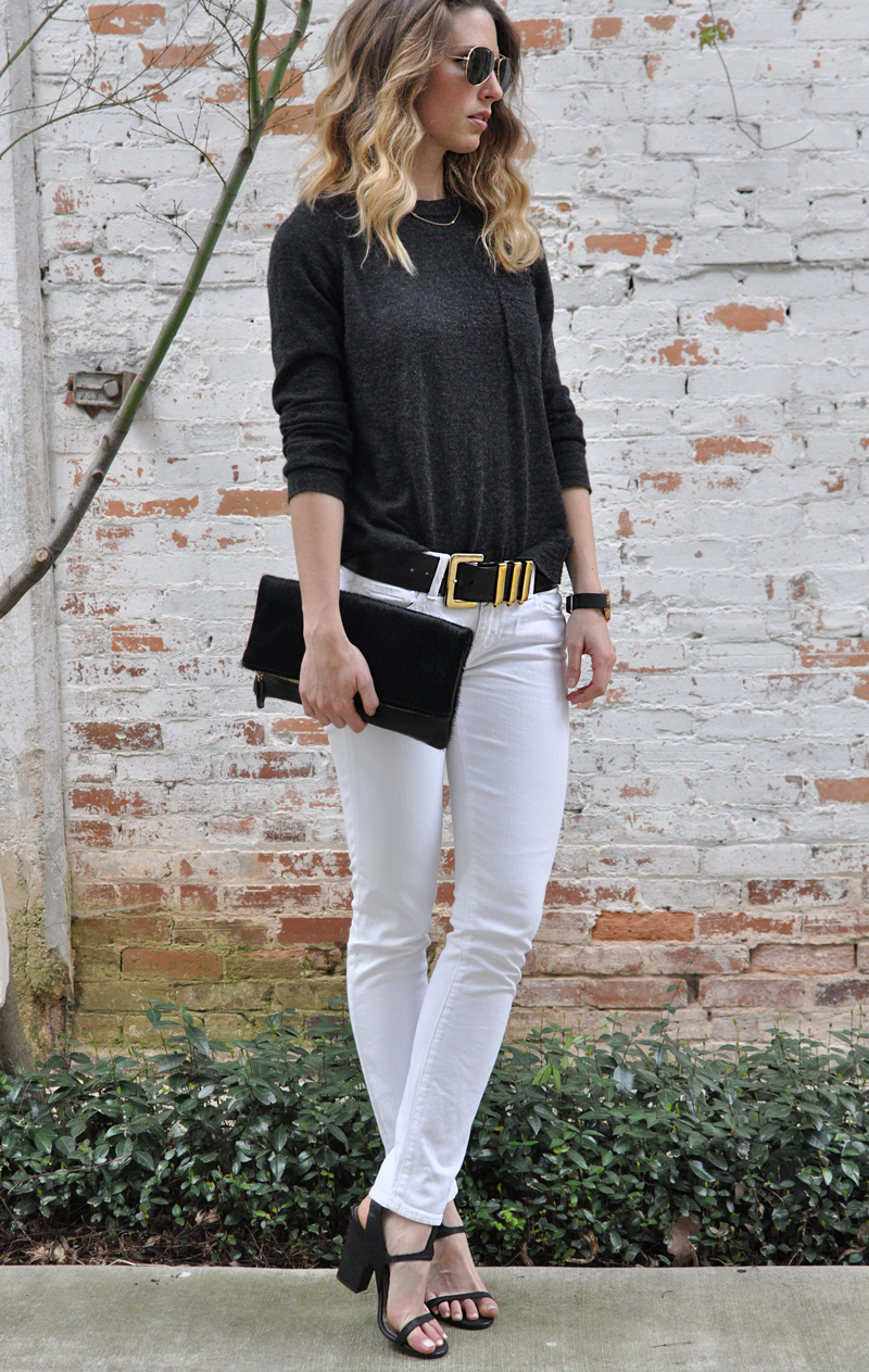 Zady-06-Charcoal-Lightweight-Alpaca-Sweater-Review-Size-Fit-Information-Small-Ceri-Hoover-Currey-Raven-Hair-Leather-Black-Clutch