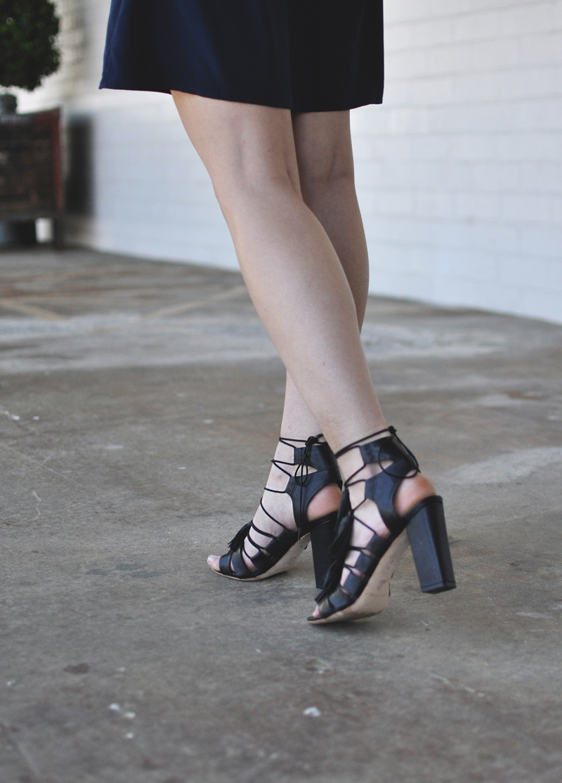 Loeffler Randall Luz Sandals Tassels Fringe Block Heel Black Leather Size Fit Review Sale Promo Code Coupon