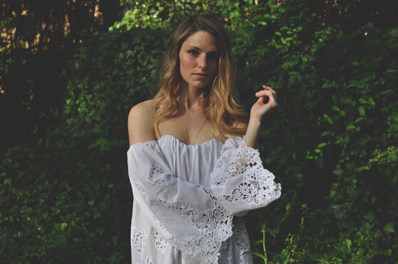 Stone Cold Fox Off The Shoulder White Dress