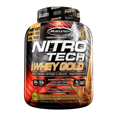 nitro tech 100% whey gold 5,5 lb double rich chocolate