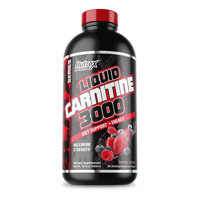 liquid carnitine 3000 berry blast nutrex research
