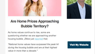 Are Home Prices Approaching Bubble Territory?