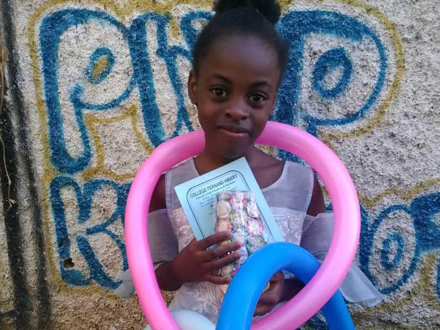 Christmas Celebration: Girl from Haiti