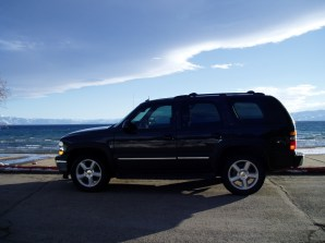 A Chevy Tahoe at Lake Tahoe. Well we thought the association was cute!