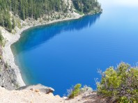 The blue lagoon? No! Crater Lake.