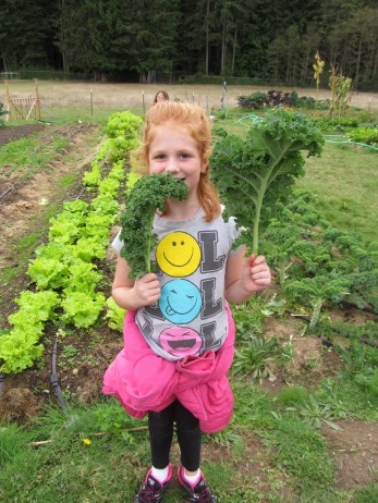 Some children just love kale alone!