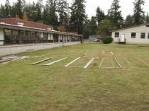 Langley Middle School empty field being transformed