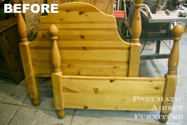 pneumatic addict furniture} diy headboard bench | while he was napping