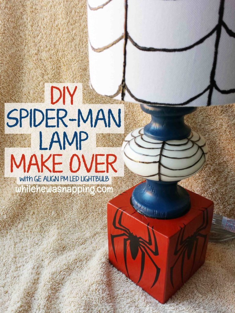 Encouraging Natural Sleep Spider Man DIY Lamp Makeover