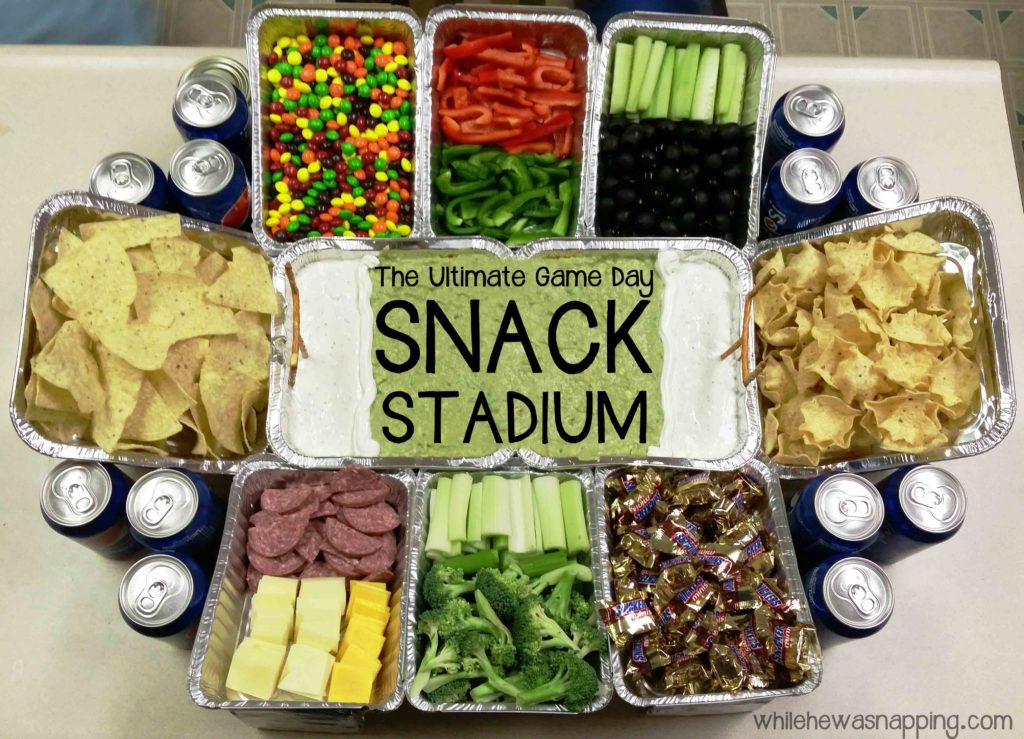 How To Make A Snack Stadium For The Big Game While He