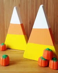 Wooden Halloween Candy Corn Decorations You'll Want to Eat ...