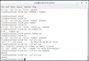 Linux compression