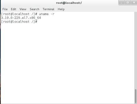 unamer, kernel version in linux