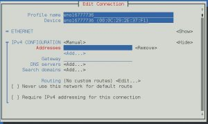 How to implement manual IP