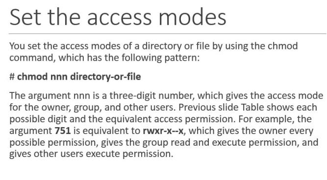 File / Folder permission details