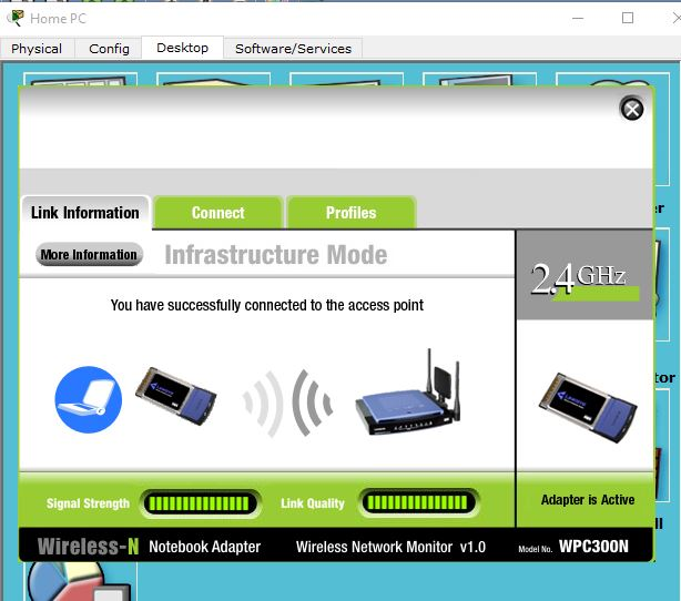 Wireless configuration window