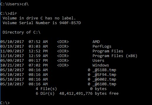 Playing with DOS commands