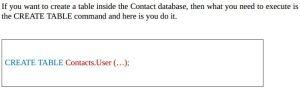 Creating SOL database