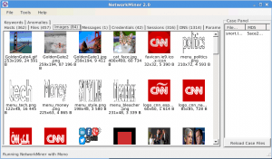 NetworkMiner with the Images tab selected