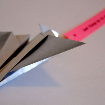 Kid's Craft: Origami Airplane Valentines