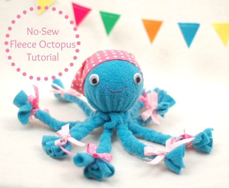 crafts for kids with paper, easy DIY craft ideas for kids, easy paper crafts for kids, DIY craft ideas Fleece octopus tutorial DIY Kids Crafts You Can Make In Under An Hour