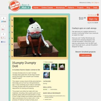 Make Your Own Humpty Dumpty: A New Online Workshop on Craftsy!