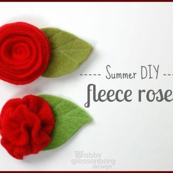 How to Make a Fleece Rose (2 Ways)