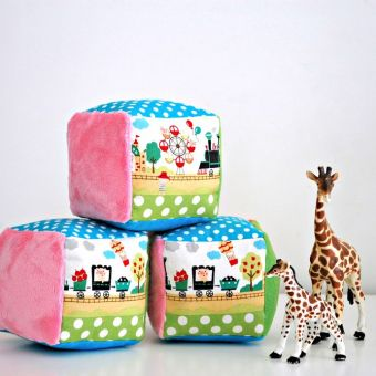 How to Make Soft Rattle Blocks for Babies: Free Pattern