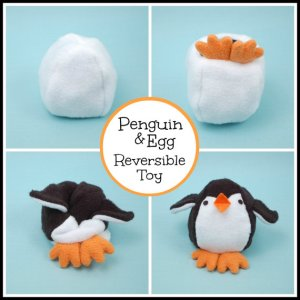 Penguin and Egg Reversible Toy