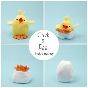 Chick and Egg Reversible Toy