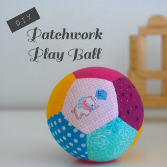 Tutorial: Patchwork Play Ball Made With English Paper Piecing