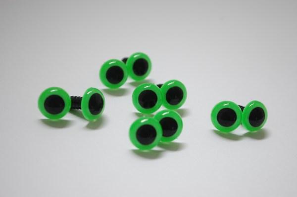 Bright Green Safety Eyes