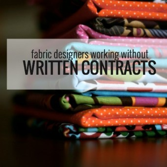 """Our Word is Our Word"": Fabric Designers Working Without Written Contracts"