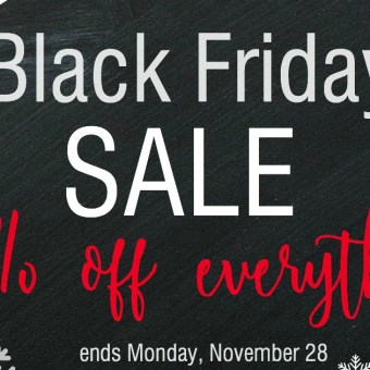 Black Friday Sale: 25% Off Everything Plus Free Shipping