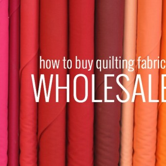 How to Buy Quilting Fabric Wholesale