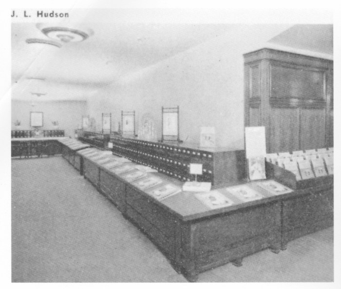 J. L. Hudson McCall pattern department 1940