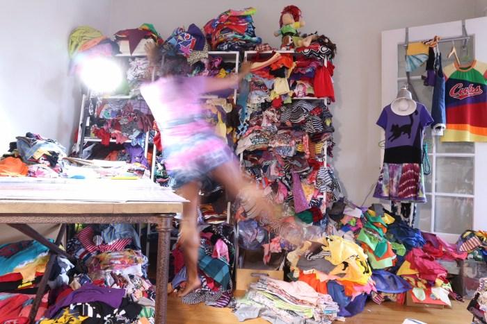 CourtneyCourtney in her studio