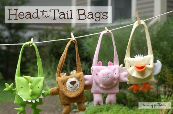 toddler animal purse sewing pattern