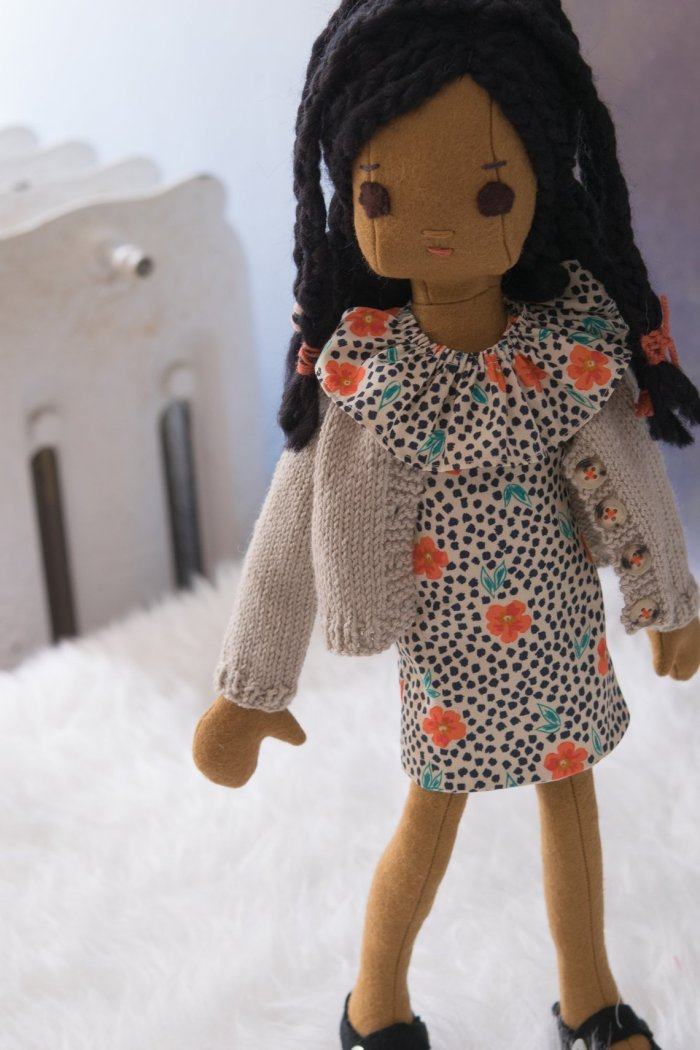 Phoebe and Egg Handmade Doll