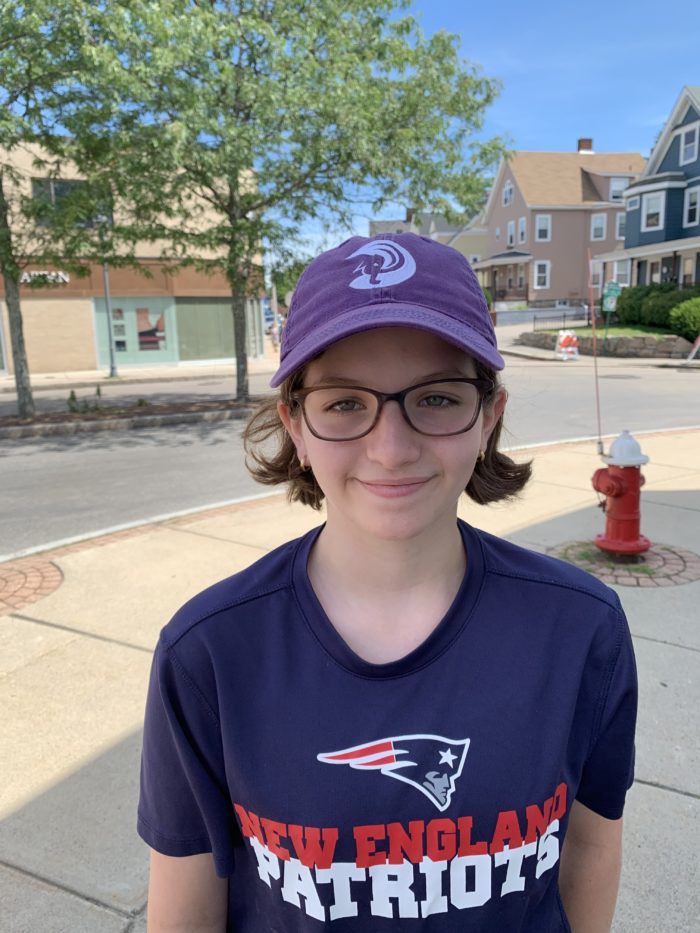 girl in patriots shirt