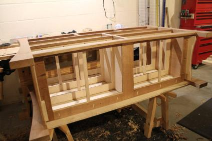 Muscle the carcase up on saw benches