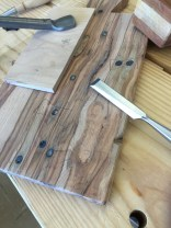 Defining the edges with a chisel
