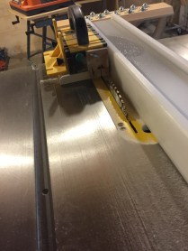 Trimming the routed edges on the tablesaw