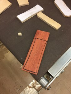 Trace and put on the bandsaw