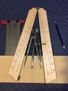 3. Final layout of the jig with full setting and half setting of the hardware.